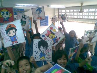 笔者给学生的另类礼物——画板,也留下深深的祝福 (2)